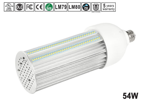China 54W Samsung/Epistar bulbo do diodo emissor de luz de 180 graus, o branco fresco e40 conduziu a luz do milho para o retorfit do shoebox distribuidor